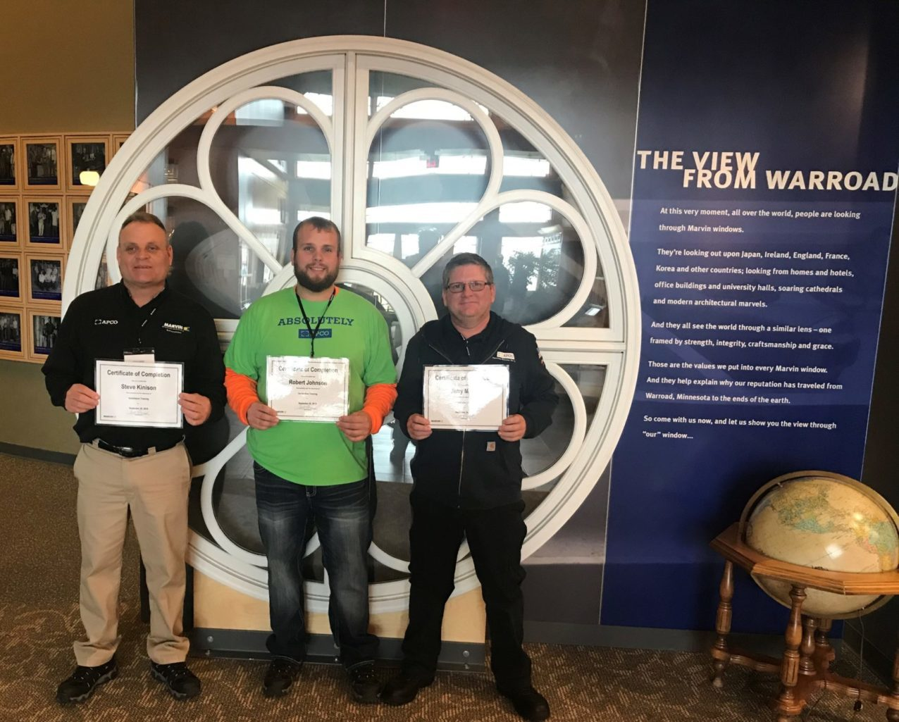 Two more APCO installers and an APCO production manager become officially certified in window and door installation after an all-expense-paid trip to Warroad, Minnesota.